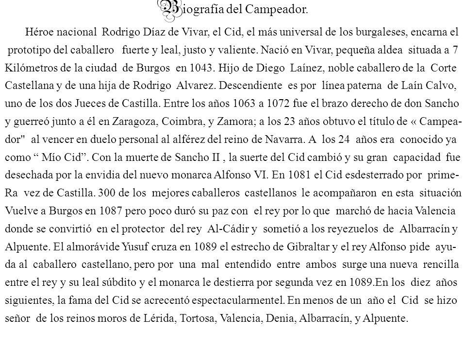 B iografía del Campeador.