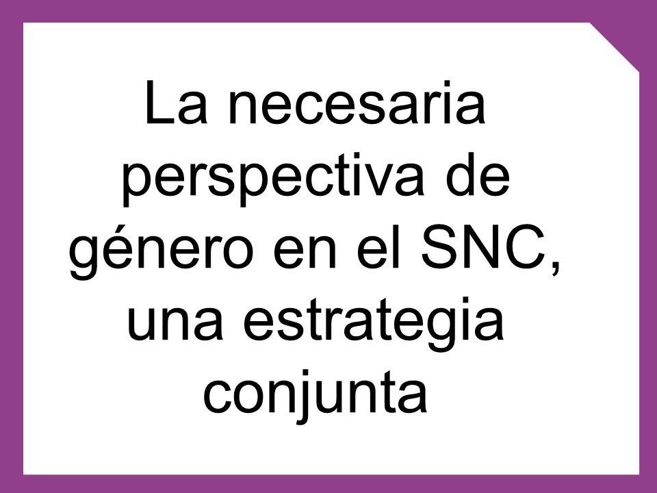 La necesaria perspectiva de género en el SNC, una estrategia conjunta