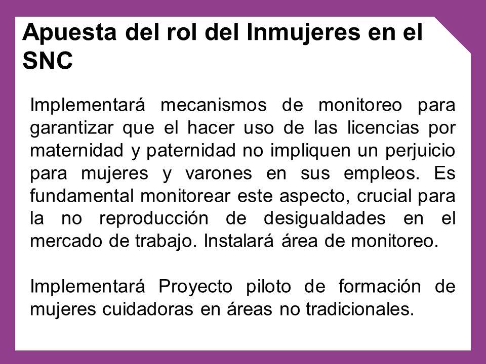 Implementará mecanismos de monitoreo para garantizar que el hacer uso de las licencias por maternidad y paternidad no impliquen un perjuicio para muje