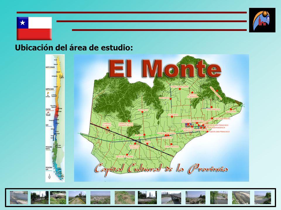 CONCLUSIONES Según, el perfil proyecto realizado, se identificó que existe una deficiencia de áreas verdes en la comuna el Monte, en relación a la recomendación, por parte de la Organización Mundial de Salud (OMS), asigna un área de 9M2/hab, en la actualidad la comuna El Monte, solo alcanza en asignar el 3.9 M2/hab; sin embargo al considerar una ampliación de las áreas verdes, por efecto de la habilitación del Paseo Peatonal José Carrera, se incrementaría a 4.1M2/hab.