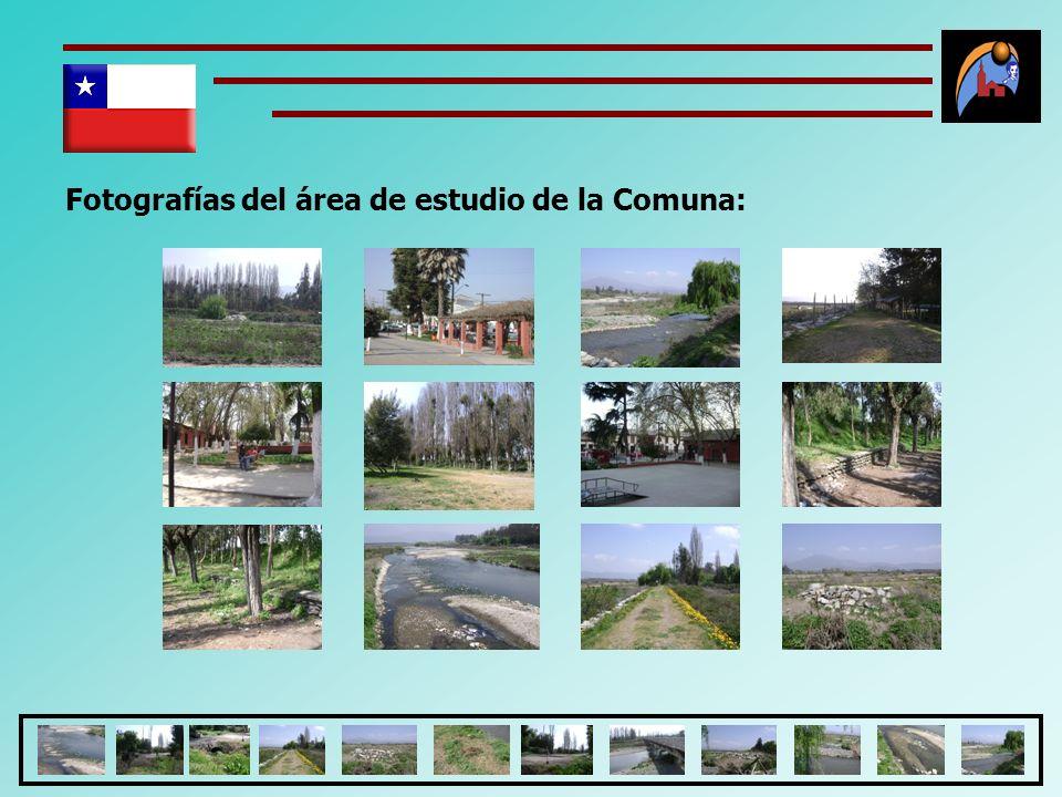 Fotografías del área de estudio de la Comuna: