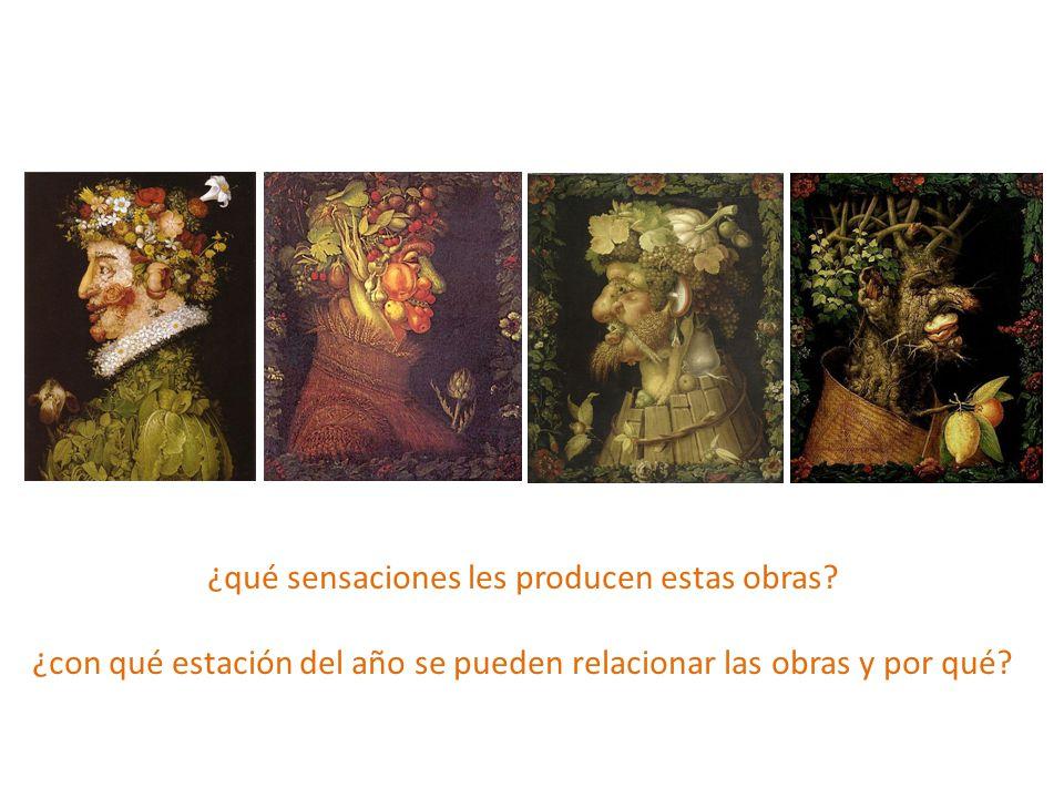 ¿qué sensaciones les producen estas obras? ¿con qué estación del año se pueden relacionar las obras y por qué?