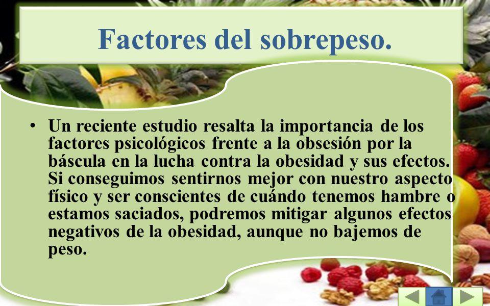 Factores del sobrepeso.