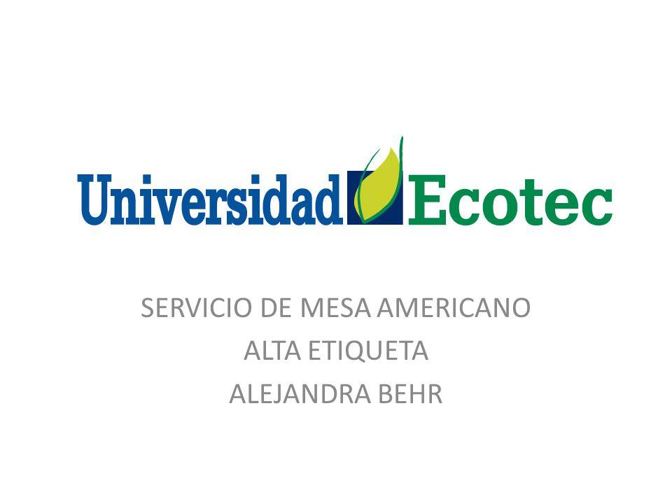 SERVICIO DE MESA AMERICANO ALTA ETIQUETA ALEJANDRA BEHR