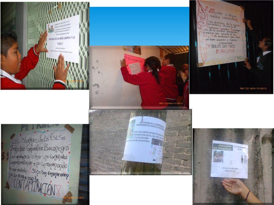 Cuarta Etapa Comparte Se comparte algunas fotos de las persona que apoyaron a los alumnos que participan en el Concurso Diseña el Cambio , en la realización de la jornada de limpieza en su comunidad.