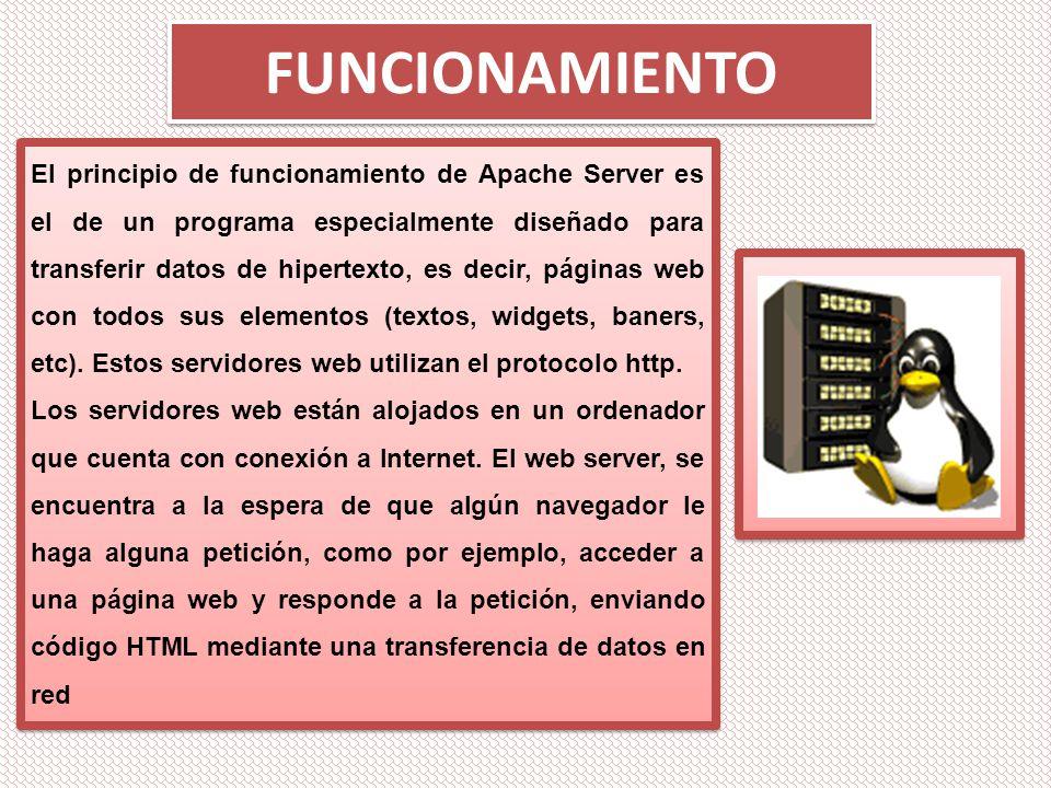 APACHE WEB SERVER El proyecto Apache Web Server es un desarrollo ...
