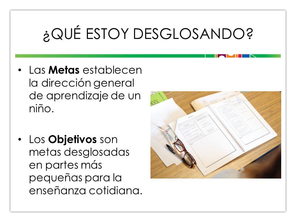METAS Y OBJETIVOS Meta: Coopera con los compañeros.
