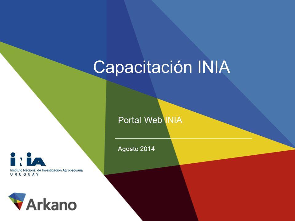 Capacitación INIA Portal Web INIA Agosto 2014
