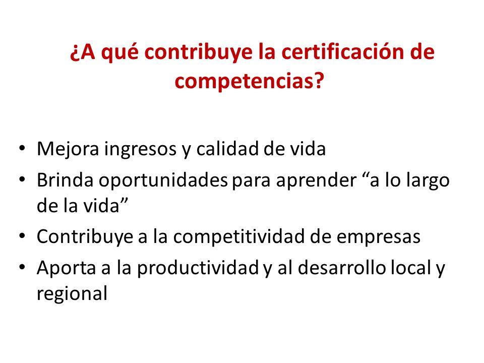¿Cómo se desarrolla la Certificación de competencias.
