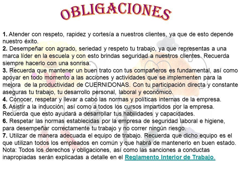 BAJAS a) Renuncia Voluntaria; cuando decidas dejar CUERNIDONAS, tendrás que acudir al Departamento de Recursos Humanos (con las señoritas Laura Correa y Nuria Tenorio), a realizar una Entrevista de Salida y firmar tu renuncia.