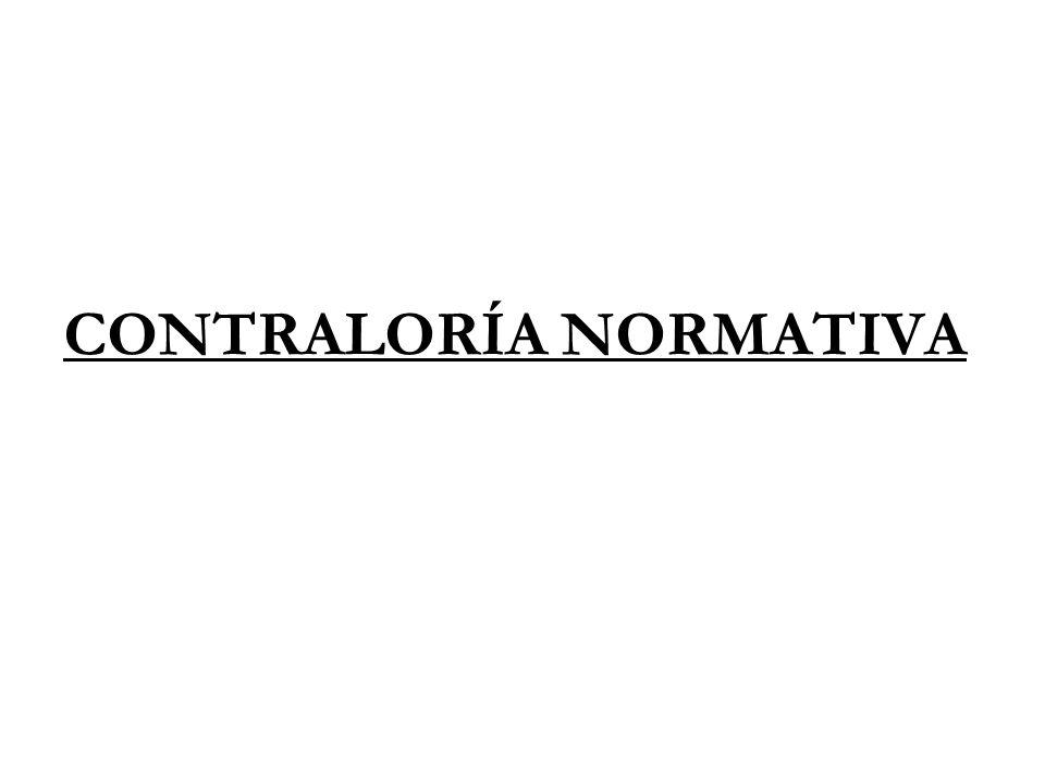 CONTRALORÍA NORMATIVA