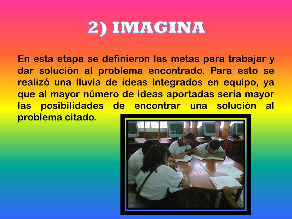 En esta etapa se definieron las metas para trabajar y dar solución al problema encontrado.