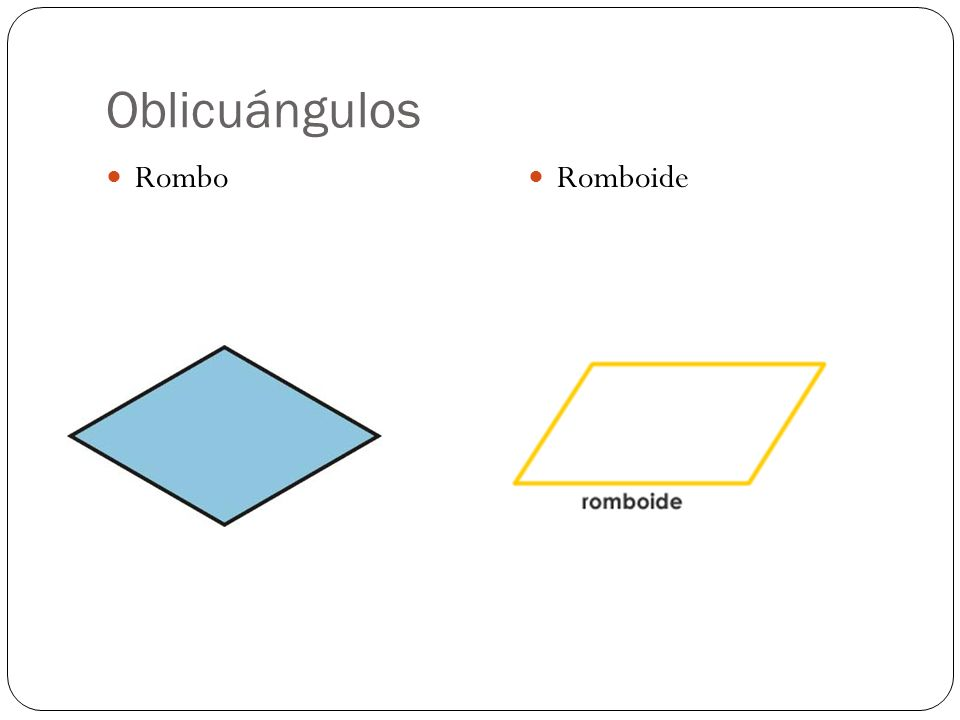 Oblicuángulos Rombo Romboide