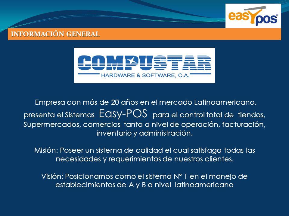 Empresa con más de 20 años en el mercado Latinoamericano, presenta el Sistemas Easy-POS para el control total de tiendas, Supermercados, comercios tan