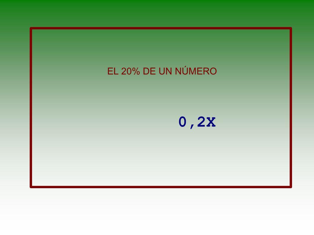 EL DOBLE DE UN NÚMERO MÁS SU CUADRADO 2X + X 2