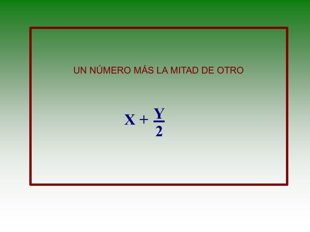 LA DIFERENCIA DE LOS CUADRADOS DE DOS NUMEROS. X 2 + Y 2