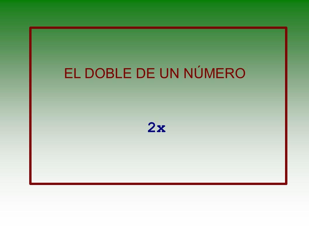 UN NÚMERO MÁS 3 X+3
