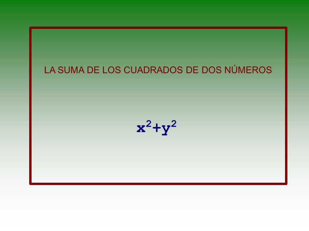 LA SUMA DE DOS NÚMEROS x+y