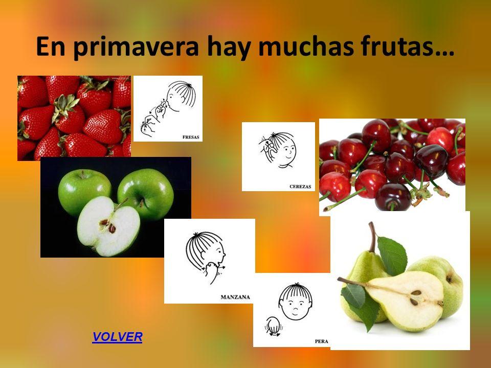 En primavera hay muchas frutas… VOLVER