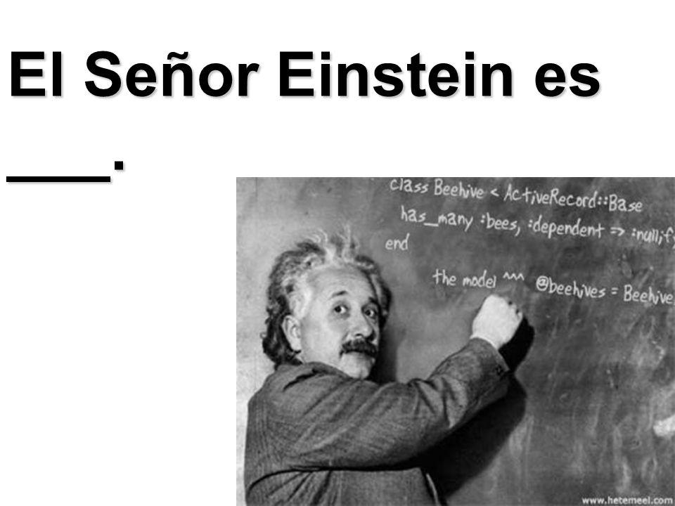 El Señor Einstein es ___.