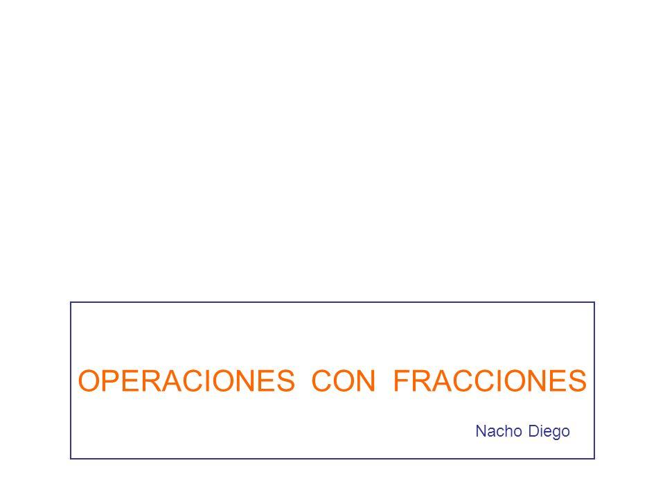 OPERACIONES CON FRACCIONES Nacho Diego