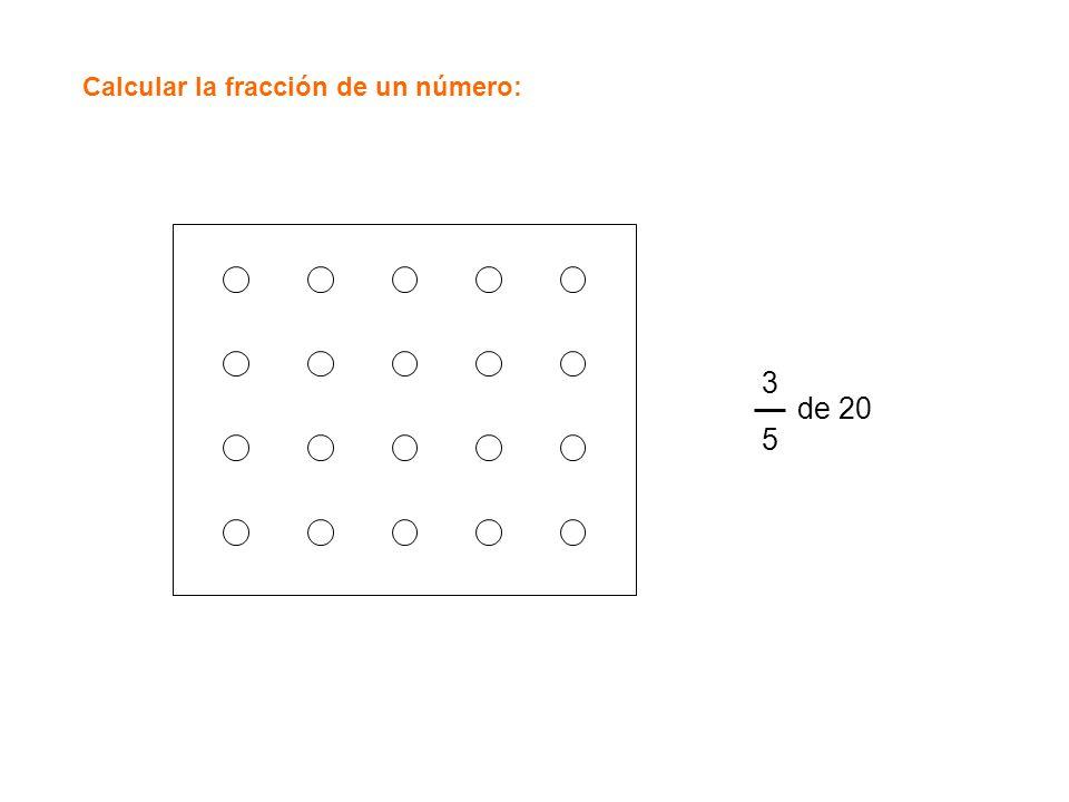 Calcular la fracción de un número: 3535 de 20