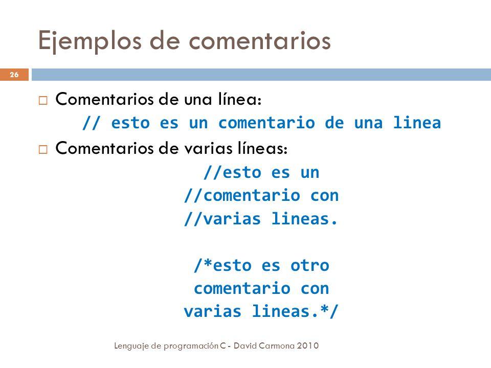 ejemplos de programacion c: