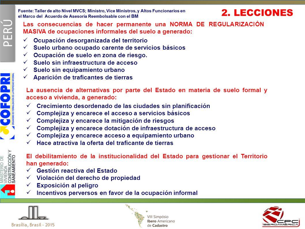 Ocupación desorganizada del territorio Suelo urbano ocupado carente de servicios básicos Ocupación de suelo en zona de riesgo.