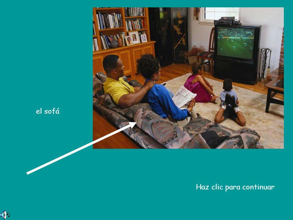 el sofá Haz clic para continuar