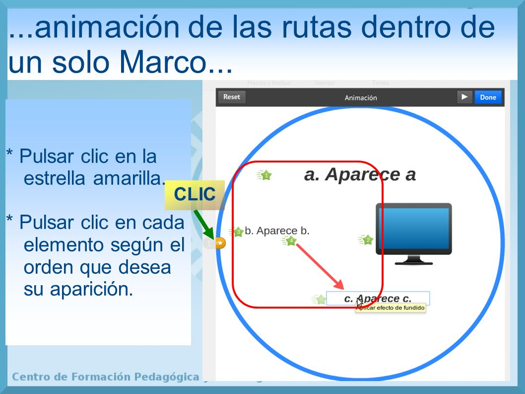 ...animación de las rutas dentro de un solo Marco...