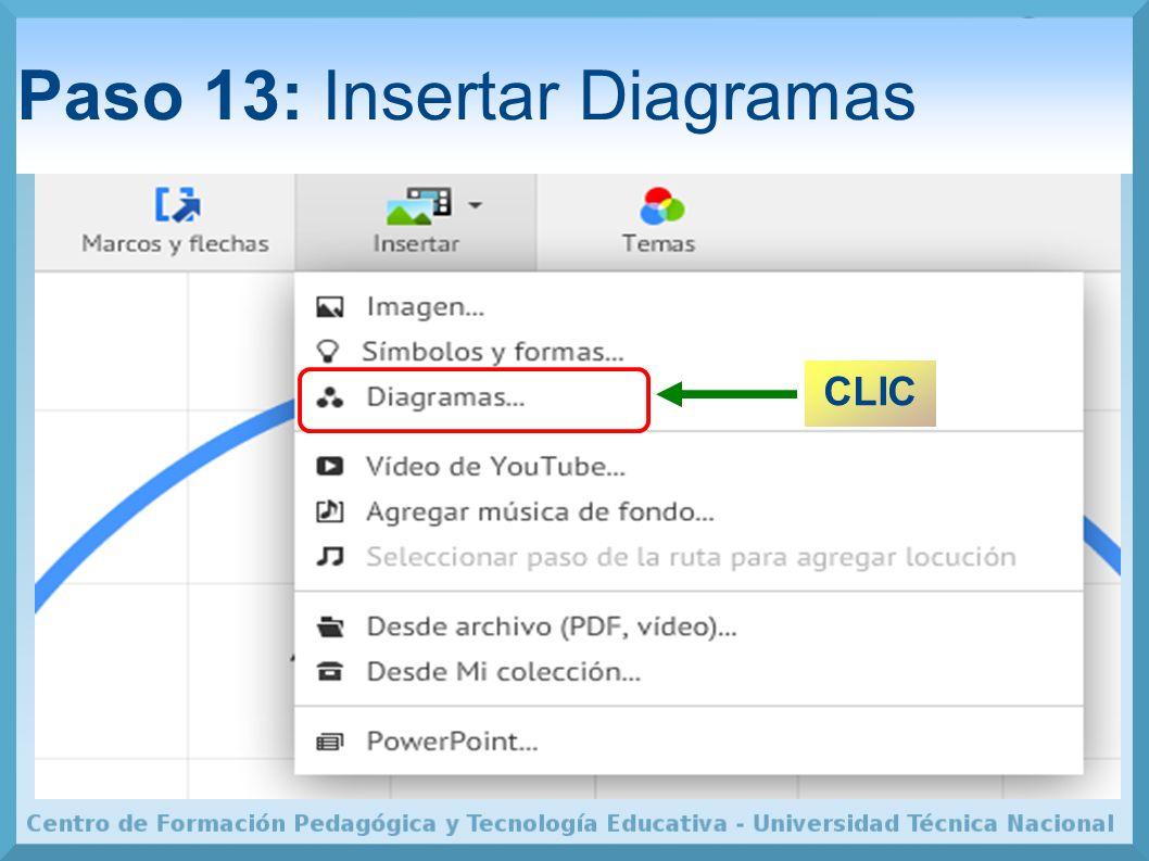 Paso 13: Insertar Diagramas CLIC