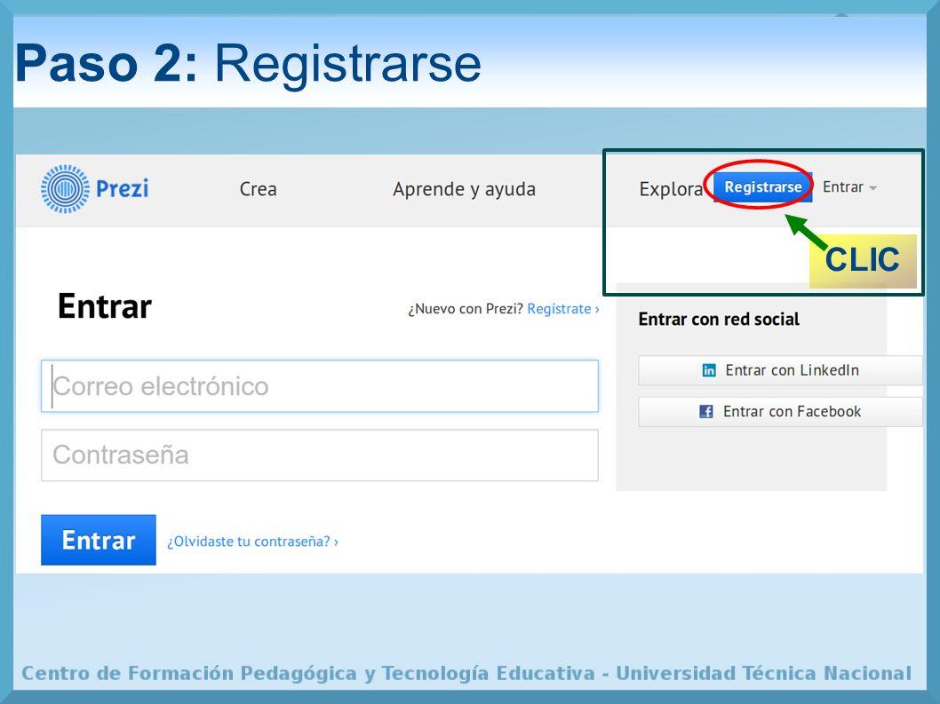 Paso 2: Registrarse CLIC