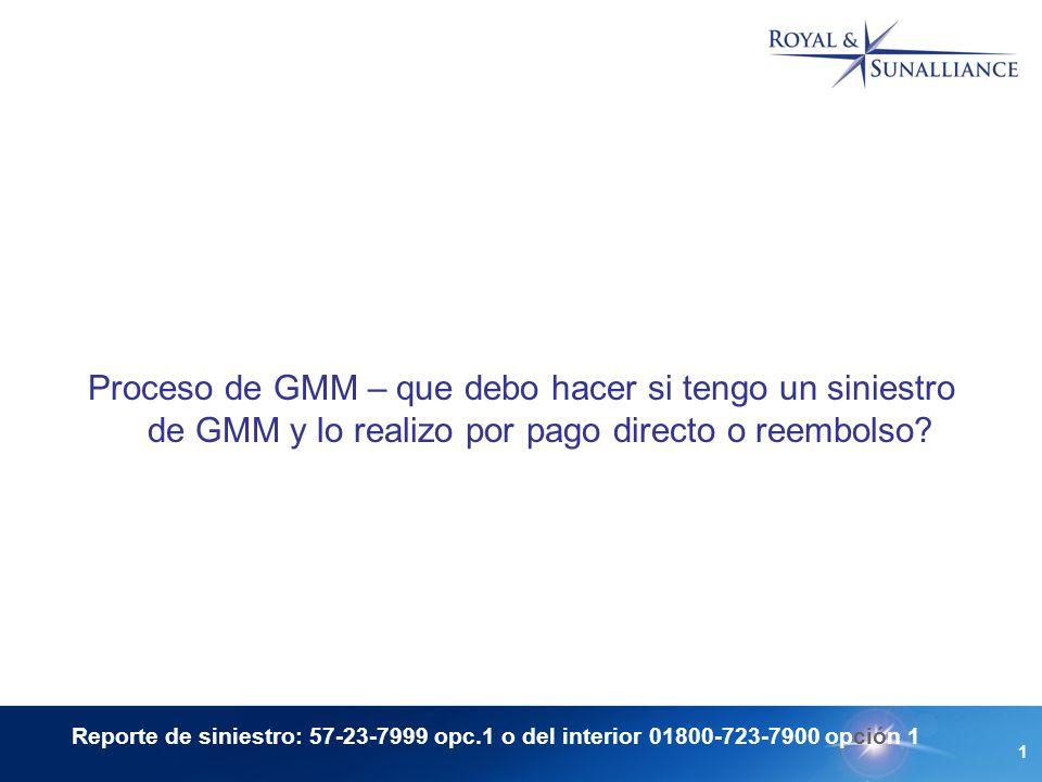 1 Proceso de GMM – que debo hacer si tengo un siniestro de GMM y lo realizo por pago directo o reembolso.