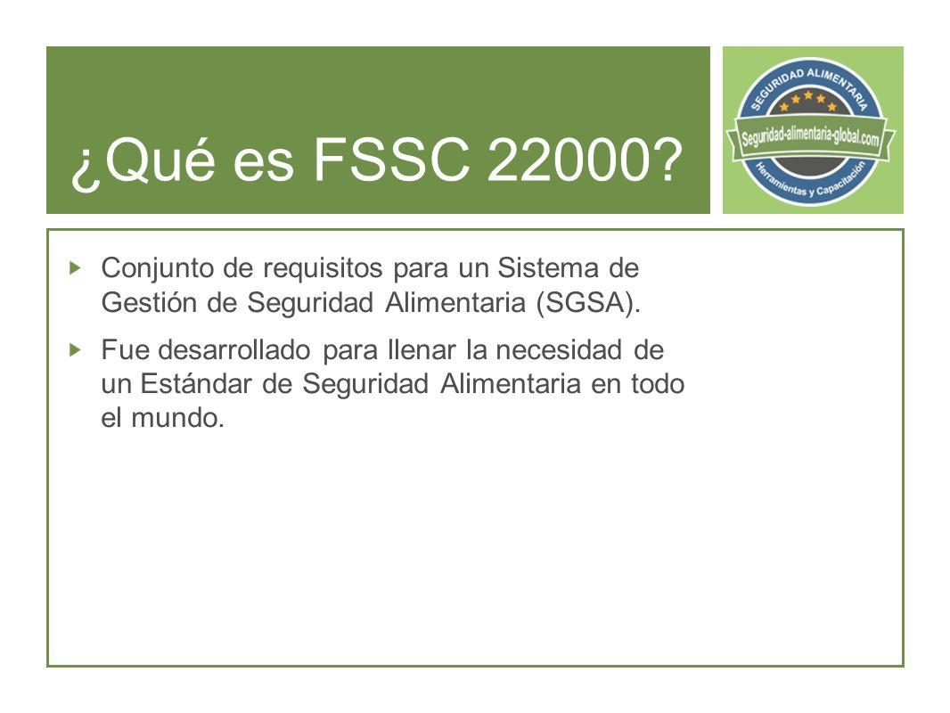 ¿Qué es FSSC 22000.
