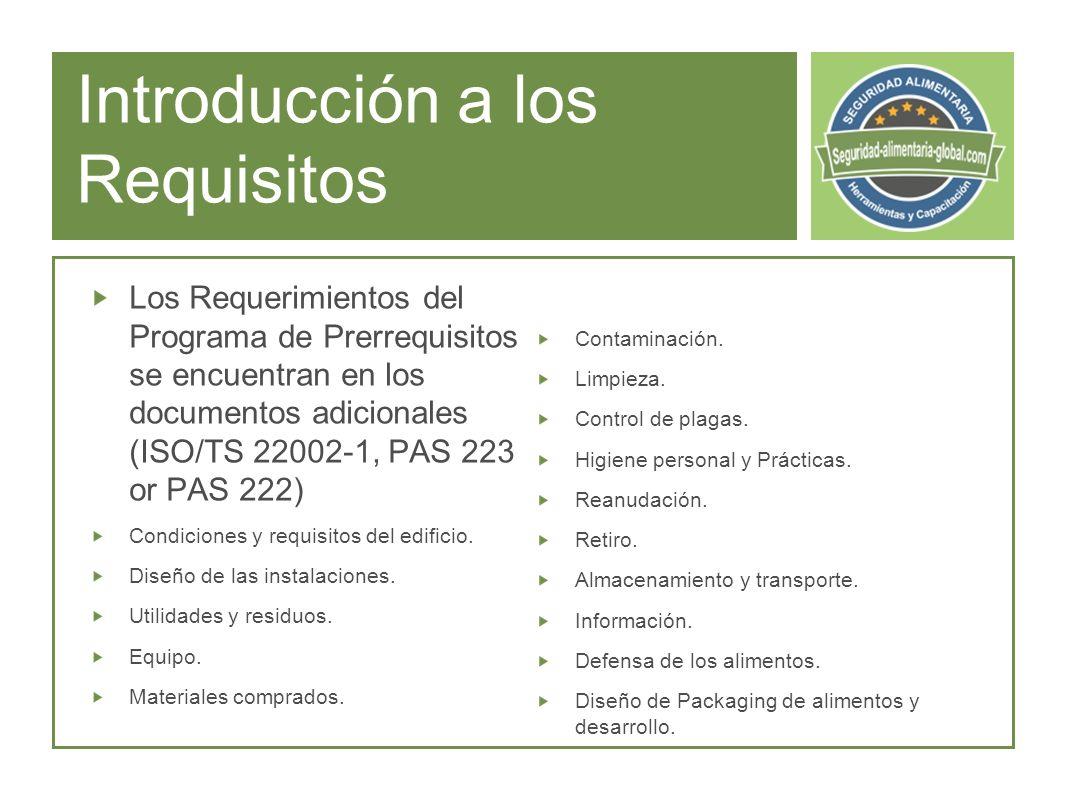 Introducción a los Requisitos Contaminación.Limpieza.