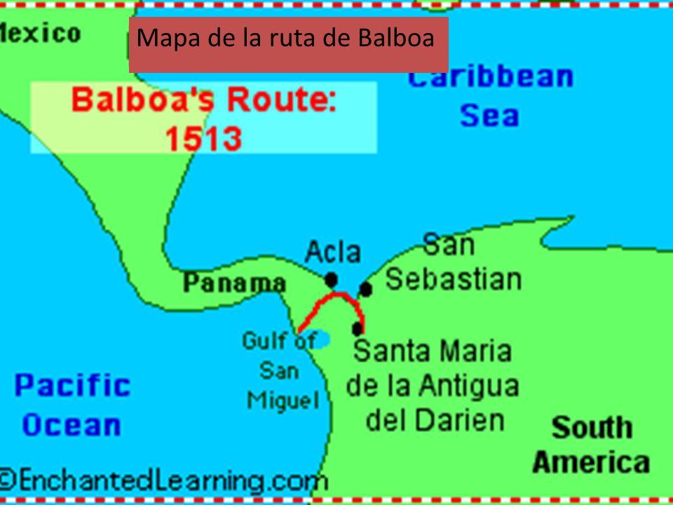 Mapa de la ruta de Balboa