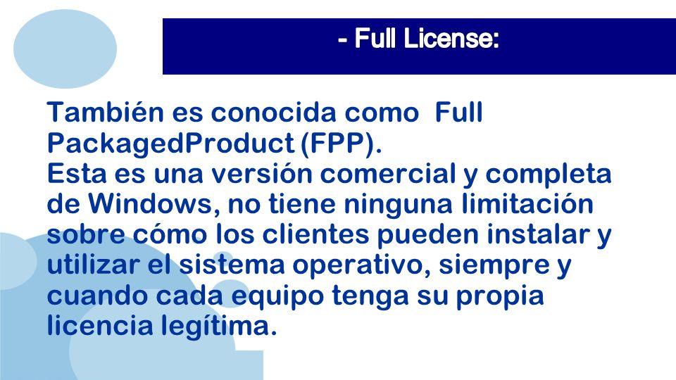 También es conocida como Full PackagedProduct (FPP).