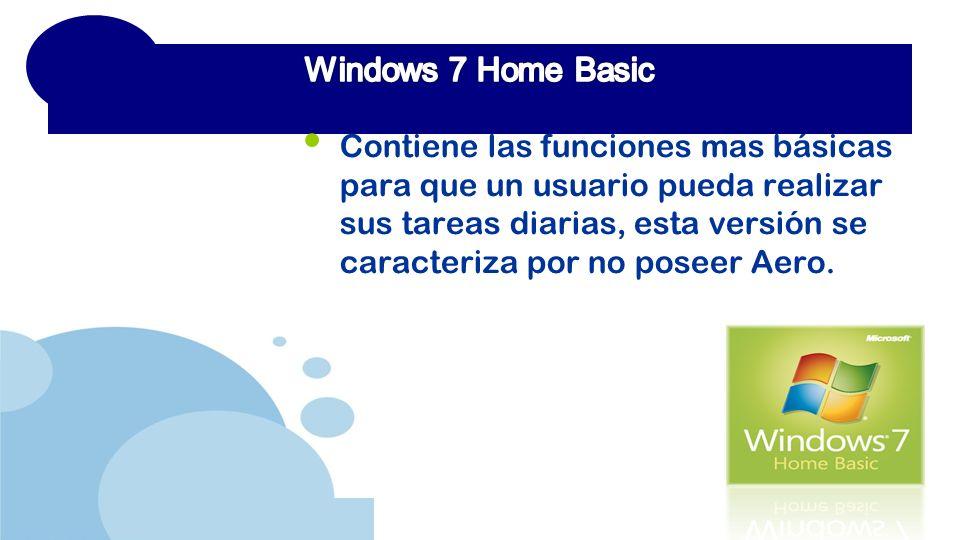 www.company.com Contiene las funciones mas básicas para que un usuario pueda realizar sus tareas diarias, esta versión se caracteriza por no poseer Aero.