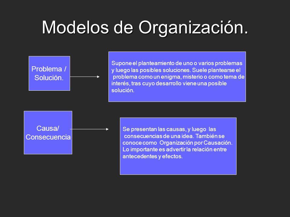 Modelos de Organización.Problema / Solución.