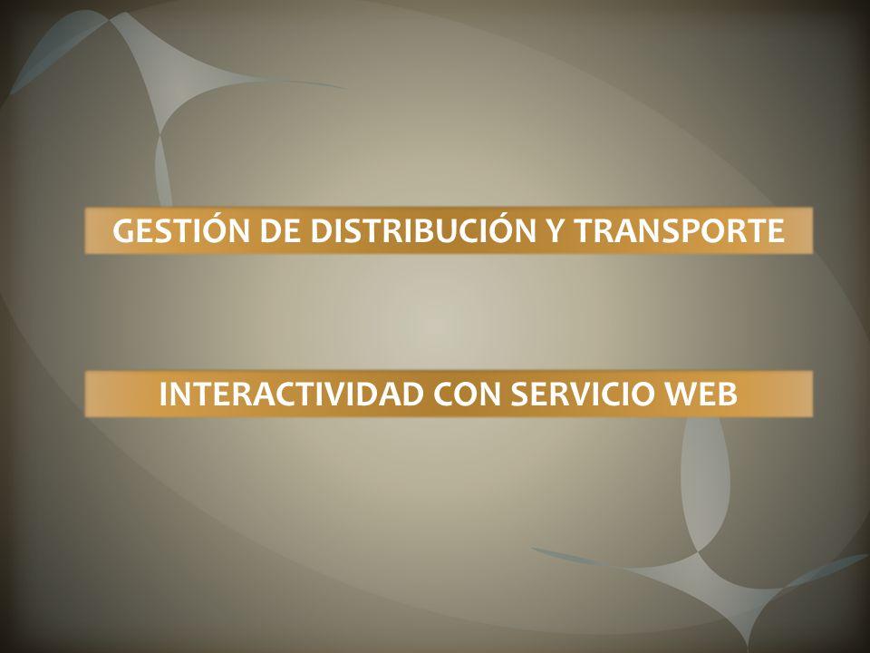 GESTIÓN DE DISTRIBUCIÓN Y TRANSPORTE INTERACTIVIDAD CON SERVICIO WEB