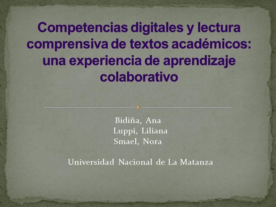 Proyecto Enseñanza-aprendizaje en la universidad: nuevos modos de leer y escribir en los tiempos de la convergencia tecnológica Dos etapas 1) de diagnóstico 2) de intervención didáctica