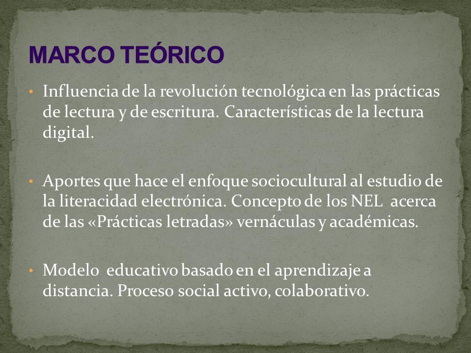 Influencia de la revolución tecnológica en las prácticas de lectura y de escritura.