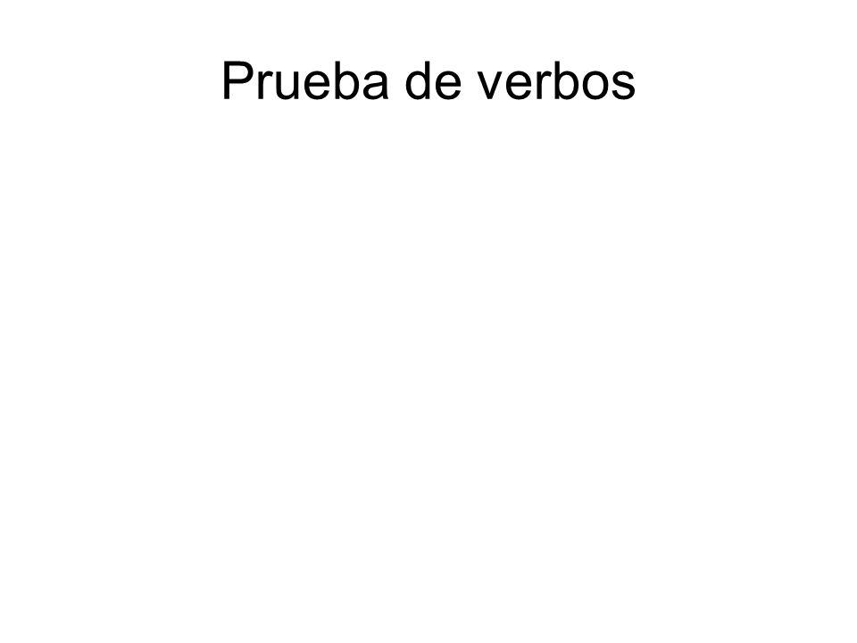 Prueba de verbos