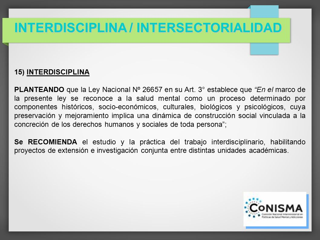 interdisciplina: