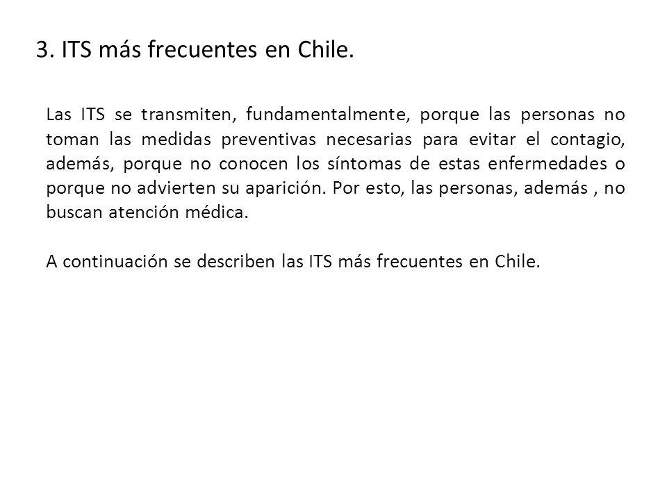 3.ITS más frecuentes en Chile.
