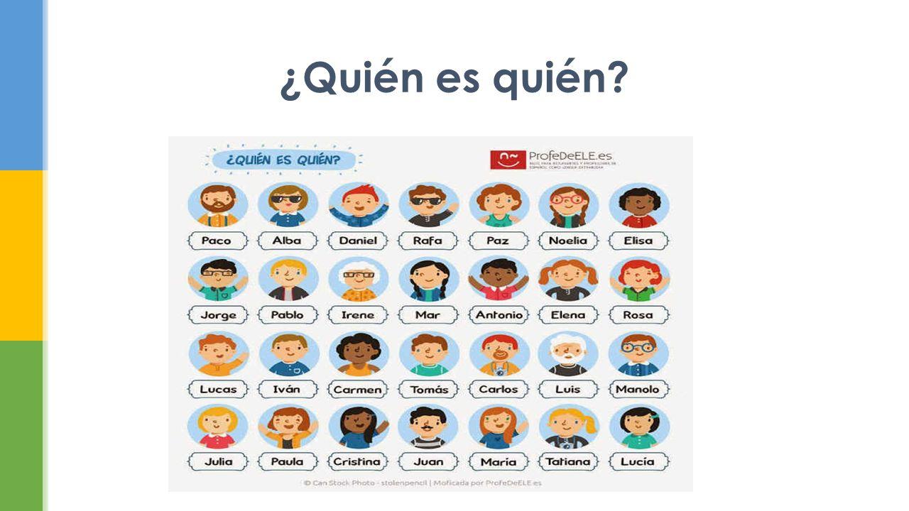  Introducción de cada miembro de la familia  Contestar las preguntas en español en forma completa  ¿Quién trabaja fuera de casa y dónde.