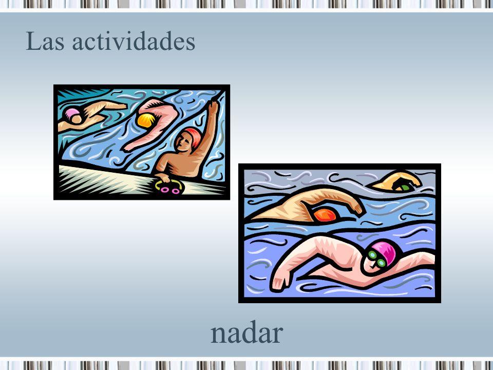 Las actividades nadar