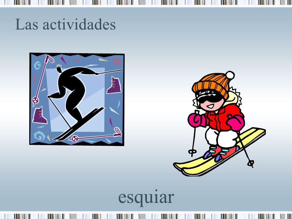 Las actividades esquiar