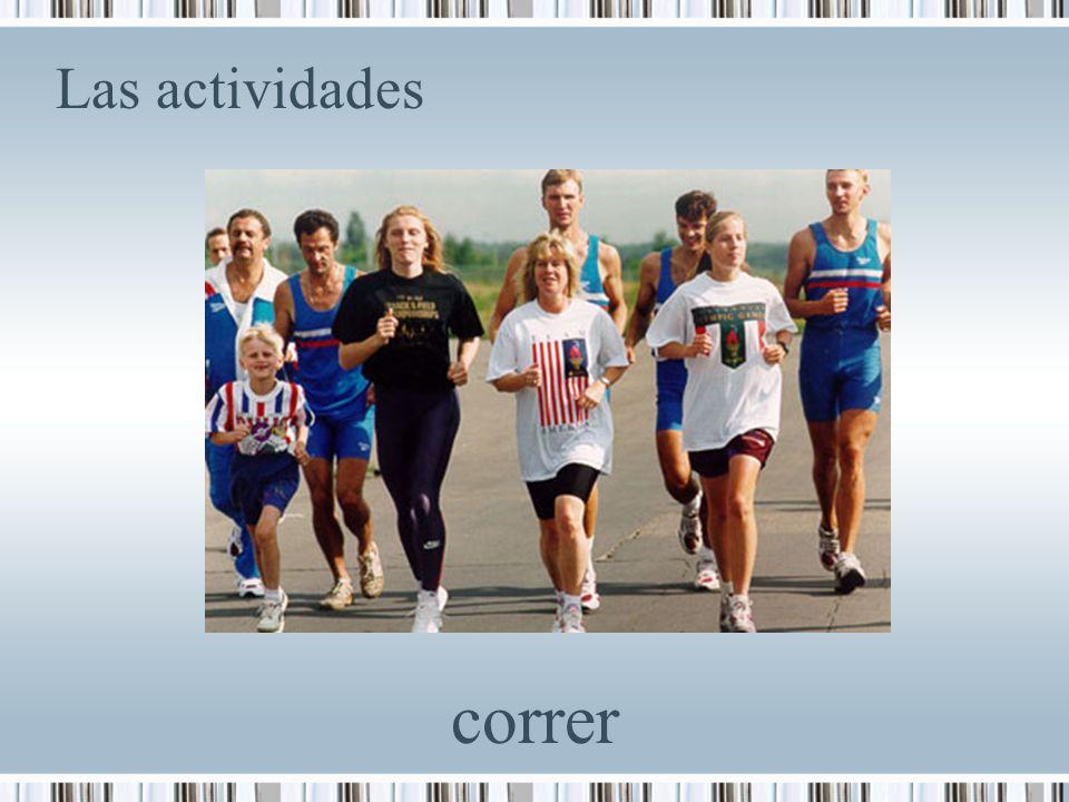Las actividades correr