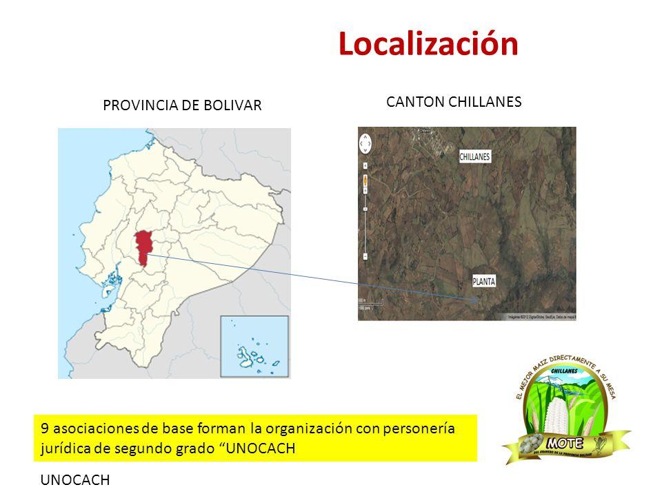 UNOCACH Localización PROVINCIA DE BOLIVAR CANTON CHILLANES 9 asociaciones de base forman la organización con personería jurídica de segundo grado UNOCACH